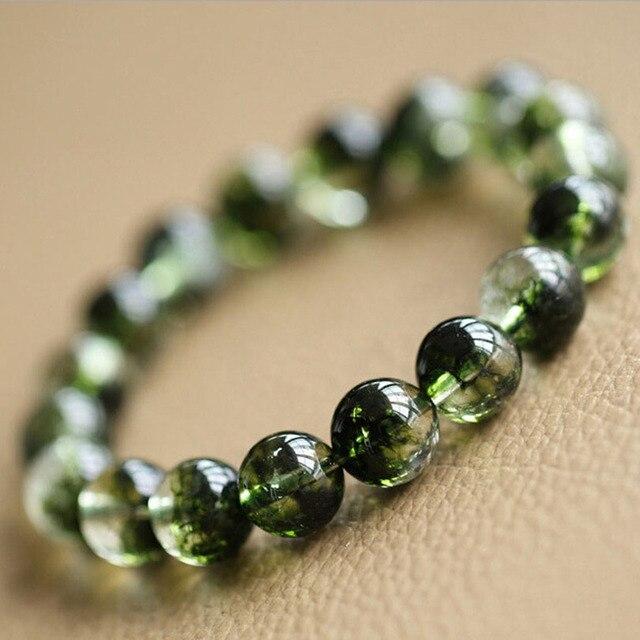 a7bb8f3c7c1e AAA Natural olivino peridoto piedra pulseras 6mm 8mm 10mm 12mm piedra  semipreciosa cuarzo cristal amatistas Ojo de Tigre joyería