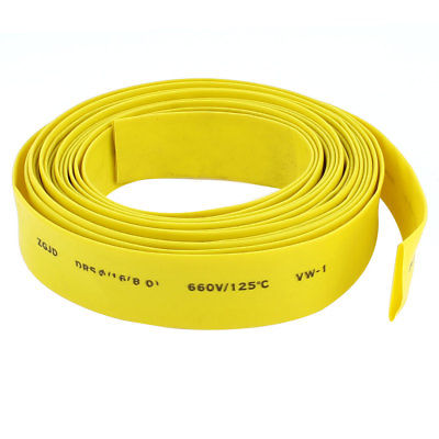 16mm Diameter Heat Shrinkable Tube Shrink Tubing Wire Wrap 5M 16Ft10M Yellow pz0 5 16 0 5 16mm2 crimping tool bootlace ferrule crimper and 1k 12 awg en4012 bare bootlace wire ferrules