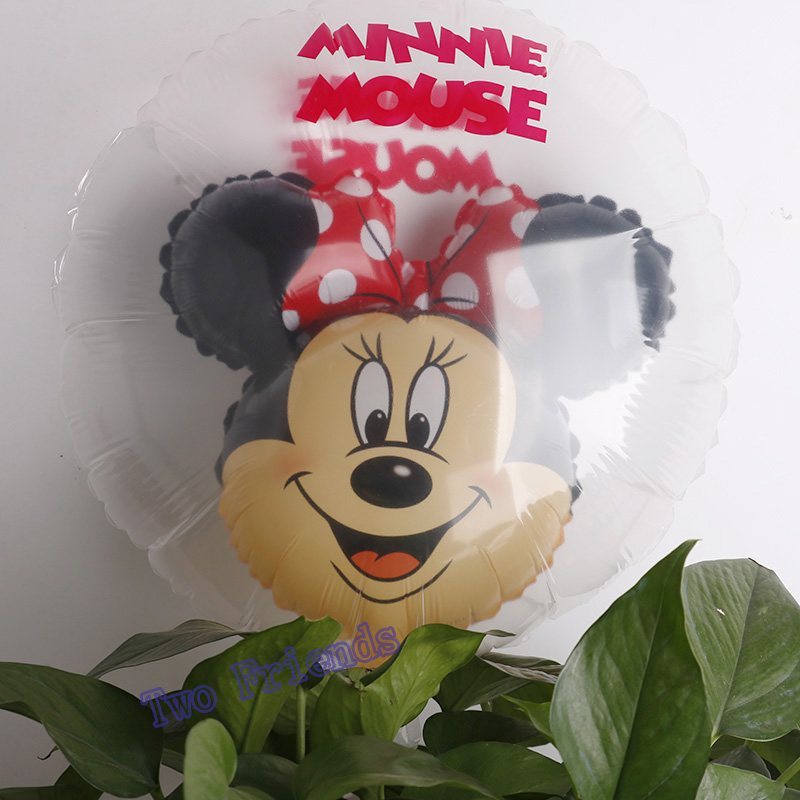 18inch minnie festa decoracao ball in ball foil balloons mickey Minnie mouse party supplies Birthday party decorations toys 30pc