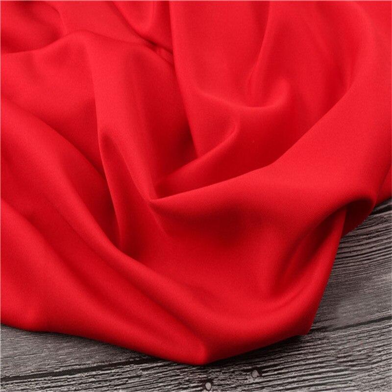4 meters red plain scuba fabric
