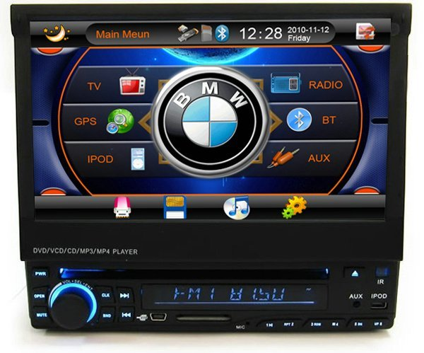 7 inch One din Car DVD 1 Din Car DVD Player with GPS Radio RDS TV PIP+Gift map+4GB SD Card