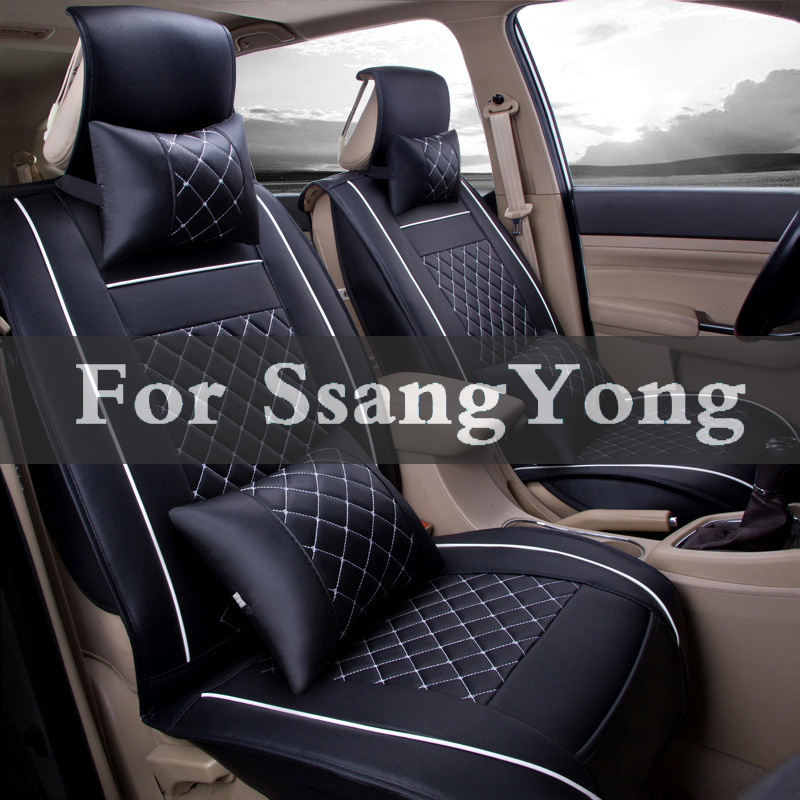 (Front+Rear+Set)Special Leather Car Seat Chair Pad Covers For Ssangyong Actyon Korando Kyron Musso Nomad Rexton Tivoli(Front+Rear+Set)Special Leather Car Seat Chair Pad Covers For Ssangyong Actyon Korando Kyron Musso Nomad Rexton Tivoli