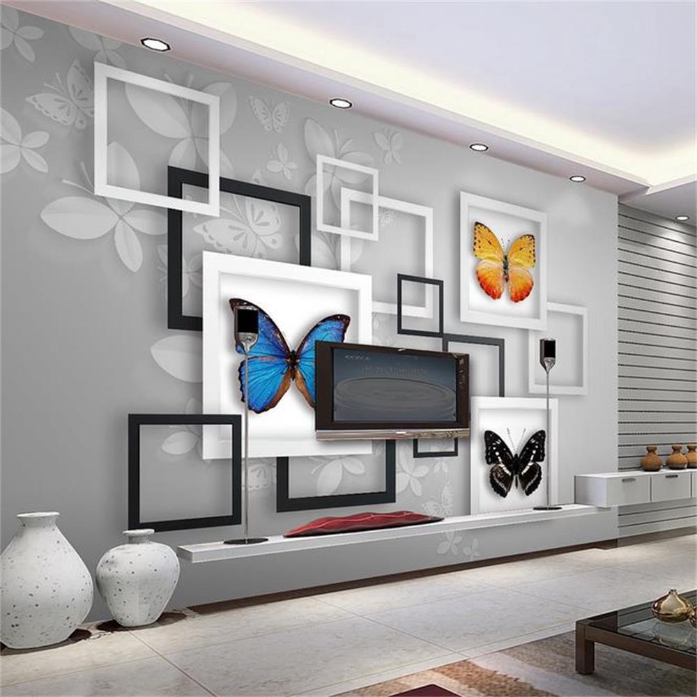 ᗐ3D habitación de papel pintado personalizado mural no tejido de ...