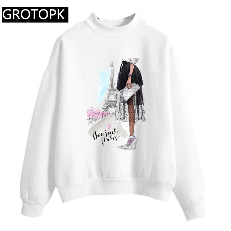 Bonjour Paris Hoodies Women 2019 Women's Fashion Sweatshirts Long Sleeve  Hoodie Letter Female Sportswear Moletom Feminino 2XL|Hoodies & Sweatshirts|  - AliExpress
