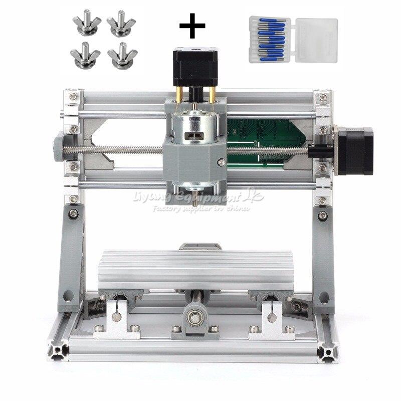 CNC 1610 bricolage Mini CNC Machine 3 axes Rounter zone de travail 16x10x4.5 cm PCB fraiseuse avec contrôle GRBL