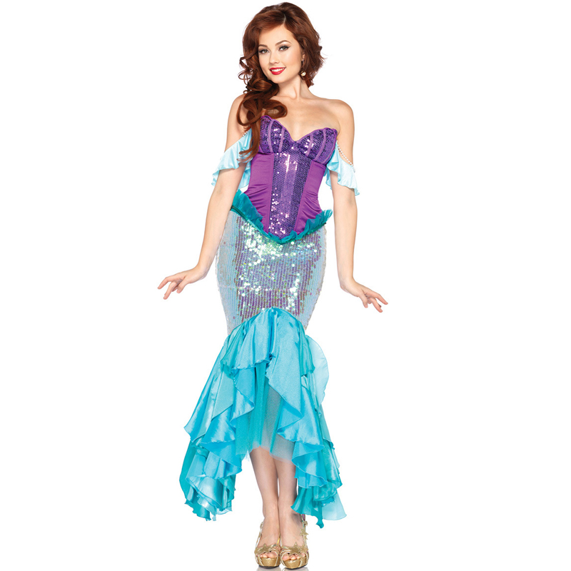 2017 Real Adult Halloween Fantasia Infantil Carnival Costume New Mermaid Dress Costumes Role Playing Uniform Temptation Export