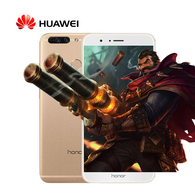 "Original Huawei Honor V9 4G LTE Mobile Phone 5.7"" 2560x1440 6GB RAM 128GB ROM Kirin960 Octa-Core Dual 12.0MP Camera"