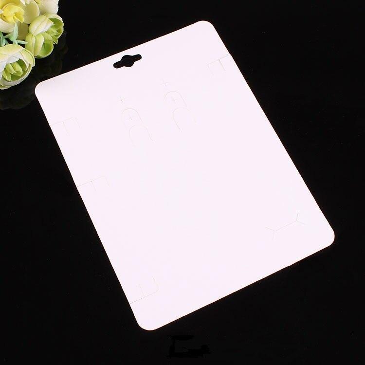 Image 4 - 100 ピースクラフトファッションジュエリービッグカードネックレス & イヤリング 14 × 19 センチ黒紙ハングタグジュエリーを表示カードジュエリー用包装 & ディスプレイ   -