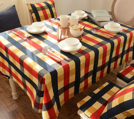 Tablecloth Rectangular Round Square Linens Nappe Cotton Cover Home Fabric Decoration Doily Plaid Picnic Cloth Table Drap QQO657