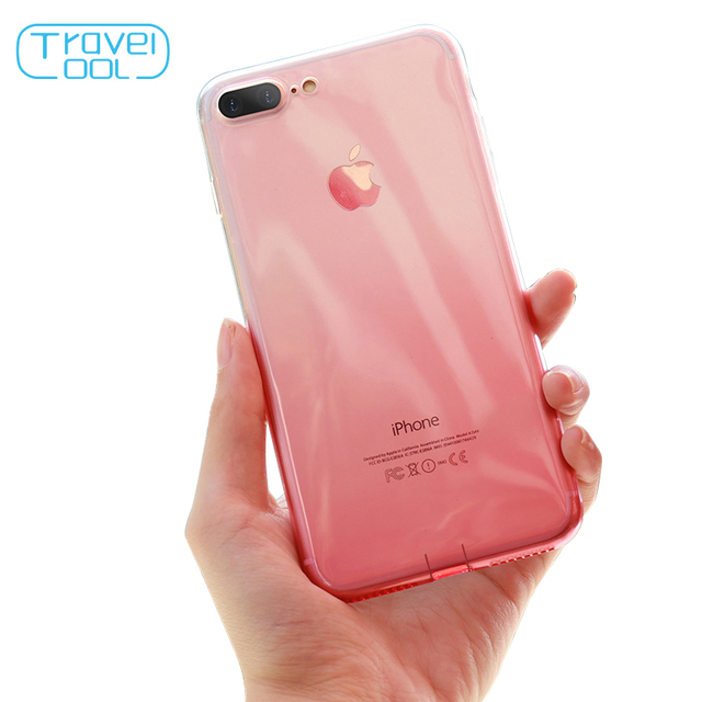 Travelcool TPU Soft Case For iPhone 6 6S iPhone 7 8 Plus Thin Cases Gradient Crystal Clear Max Phone Cases For iPhone X XS Cases