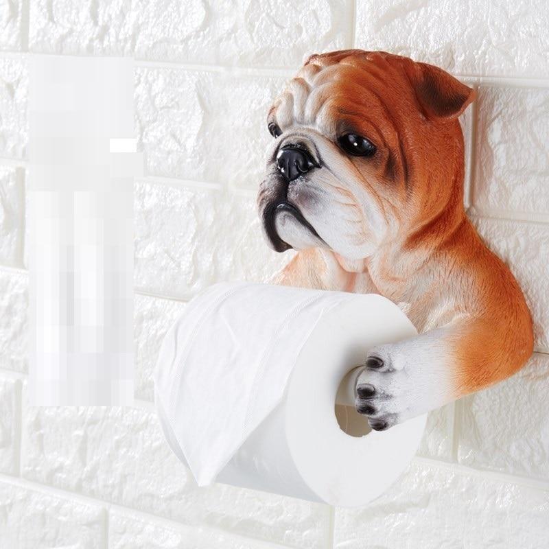 Ours chat chien porte-papier hygiénique toilette hygiène résine plateau libre poinçon main boîte à mouchoirs porte-serviettes bobine dispositif R420