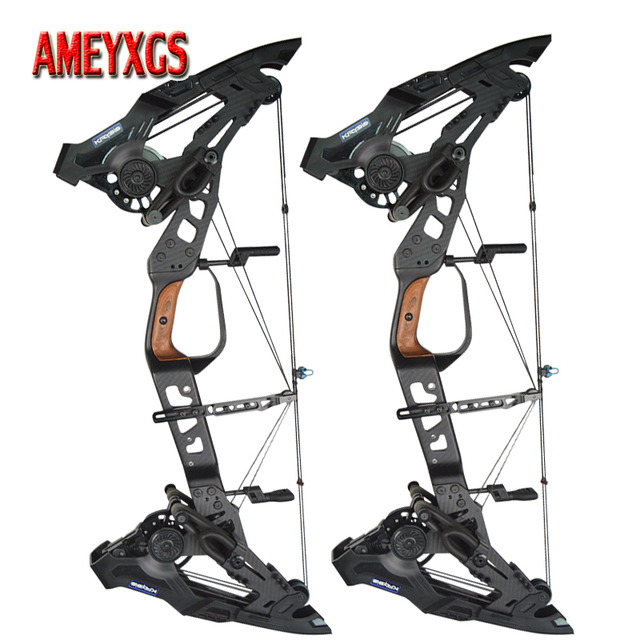 Archery 32inch Compound Bow 21.5-80lbs Adjustable Draw Weight Steel Ball/Arrow Dual-purpose Outdoor Shooting Training Bow