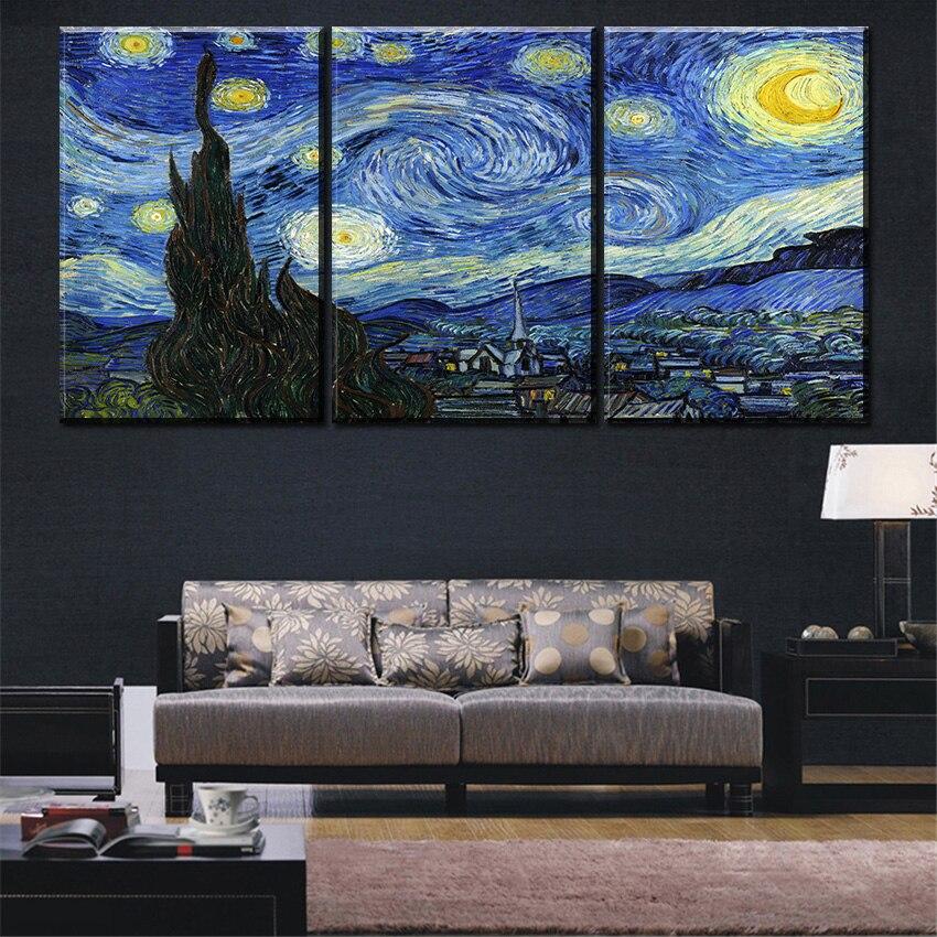 vangosh- ի լավագույն որակը The Starry Night- ի - Տնային դեկոր - Լուսանկար 1