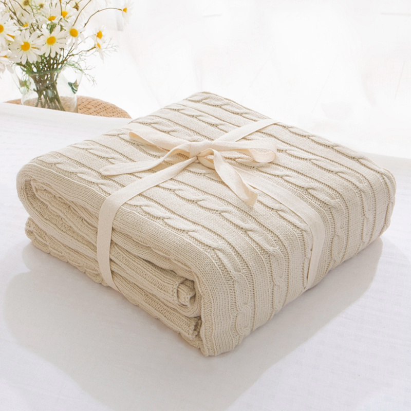 Plaid Blankets for Beds Cover Soft Throw Blanket Bedspread Bedding Knitted Blanket Air Conditioning Comfy Sleeping Bedspreads
