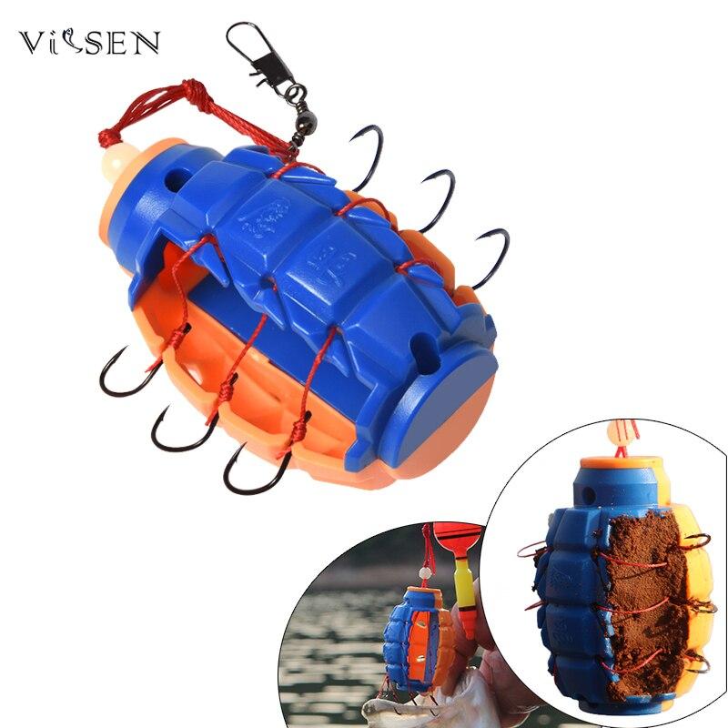 Vissen рыбалка кормушка для рыбалки крючки рыболовные PESCA рыболовный крючок для рыбалки 1 шт. Рыбалка желоба бомба доказательство висит взрыв к...