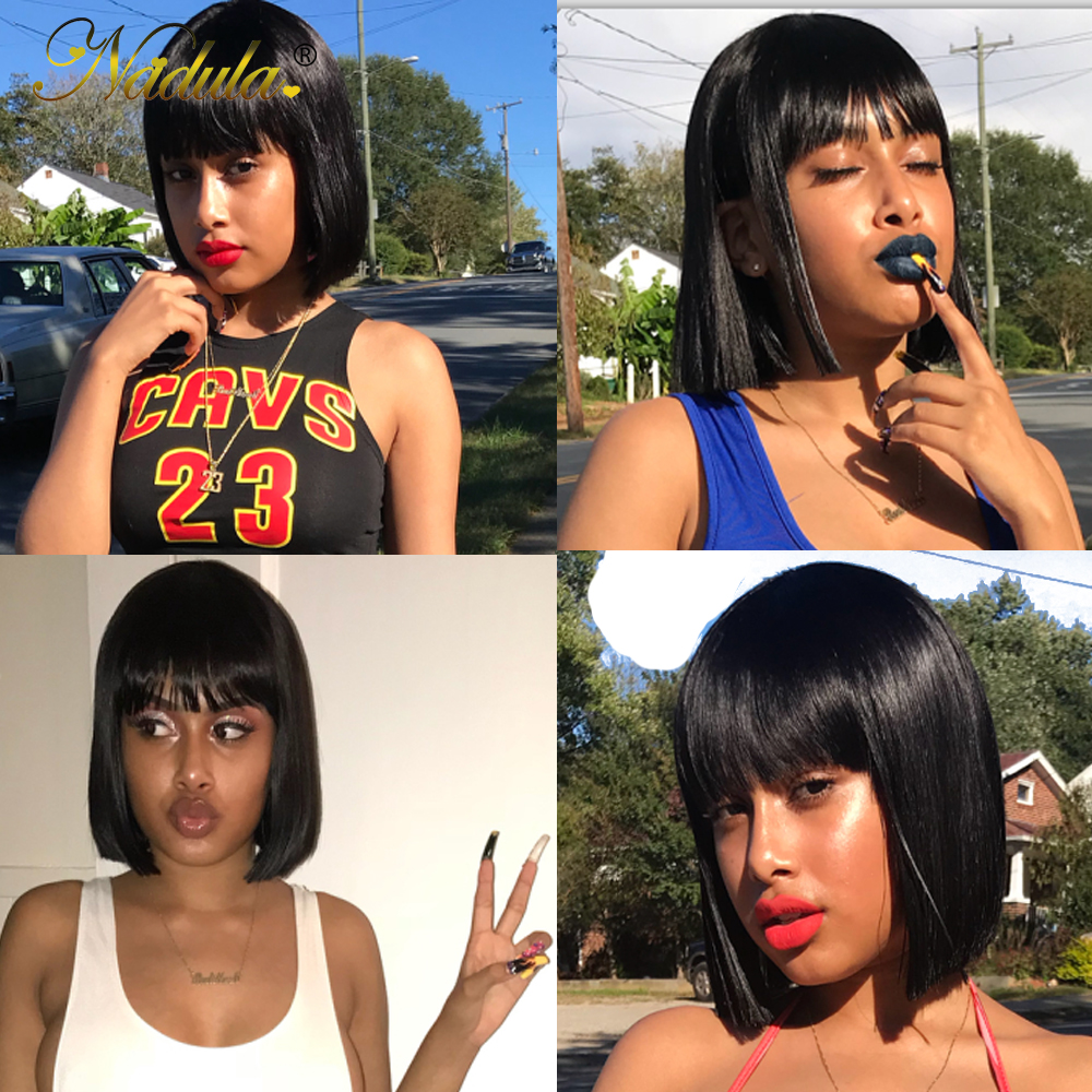 HTB1smBLV3HqK1RjSZFPq6AwapXap Nadula Hair 13*4 Lace Front Wig Short Human Hair Wig 8-14inch Straight Bob Wig For Women Brazilian Remy Hair Natural Color