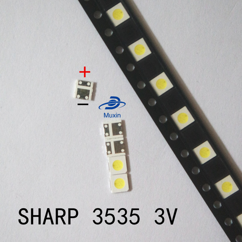 Active Components 100pcs For Sharp Led Tv Application Lcd Backlight For Tv Led Backlight 1w 3v 3535 3537 Cool White Gm5f22zh10a