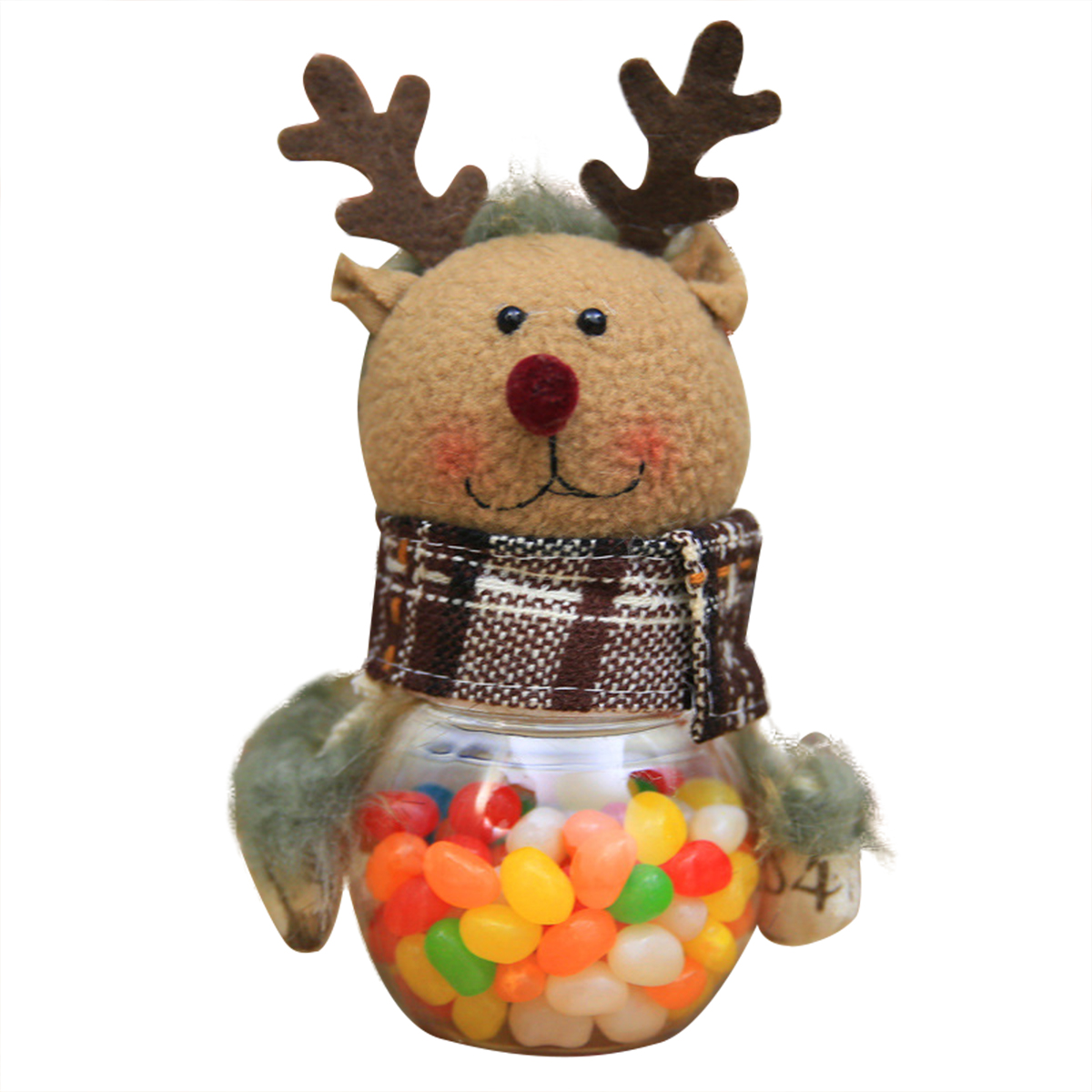 1pcs Christmas Candy Storage Box Jar Bottle Xmas Decor elk