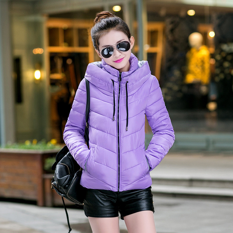 2016 Winter coat Women short Cotton Padded Coat Casual Parkas For Women Hooded Winter Manteau Femme
