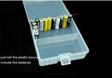 купить 5pcs/lot big size Transparent Plastic AA Battery Storage Box for 100 AA batteries AA battery Holder home Organizer Container дешево