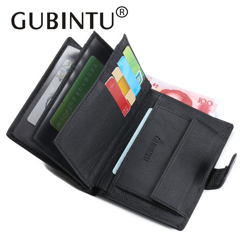 GUBINTU New Passport Cover Genuine Leather Men Wallet Leather Wallet Gifts 1 Pcs Card Holder Money Bag Brand Wallet Coin Purses famous brand new passport card holder