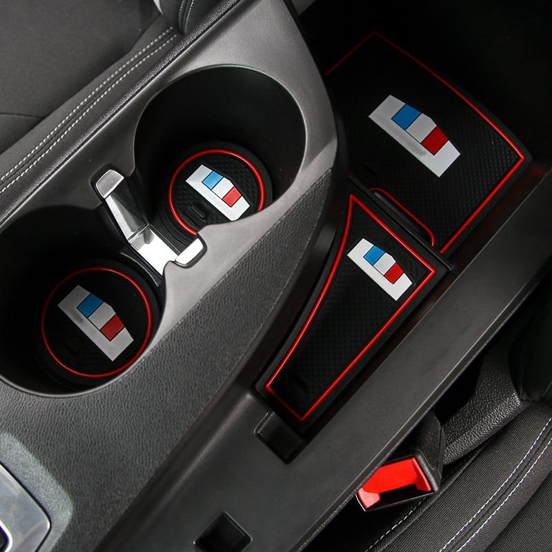 SHINEKA CarAccessories En Caoutchouc Porte Fente Tapis Anti-Slip Tapis pour Chevrolet Camaro 2017 +