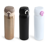 500ML Bounce Cap Stainless Steel Double Wall Vacuum Cup Stainless Steel Coffee Mug Thermos Cup Coffee