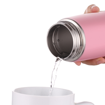 Oneisall Thermos Water Bottle For Kids Thermocup Leakproof Portable Cute Design Coffee Mug Thermos Insulated Vacuum Flask Purple