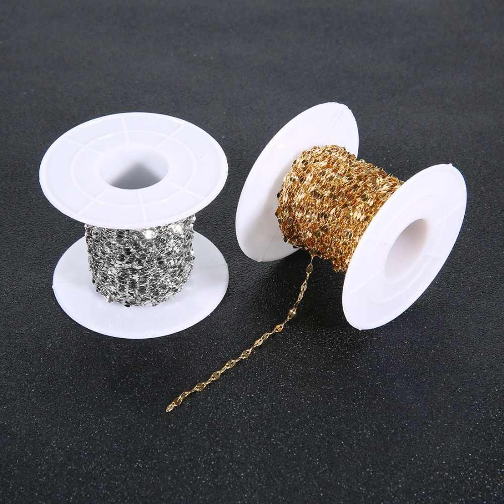 Sauvoo 10 quintal/lote 316l aço inoxidável plana oval lábio-forma corrente de onda de água para pingente colar diy jóias fazendo descobertas