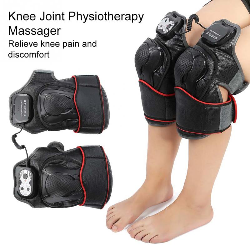 1Pairs Knee Joint Physiotherapy Massager Knee Arthritis Pain Relief Knee Rehabilitation Magnet Vibration Heating Massage Machine недорго, оригинальная цена