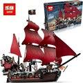 LEPIN 16009 Piratas serie Bloques de Construcción modelo de La Venganza de la Reina Anne Compatible Con Juguetes Barco Pirata para los niños