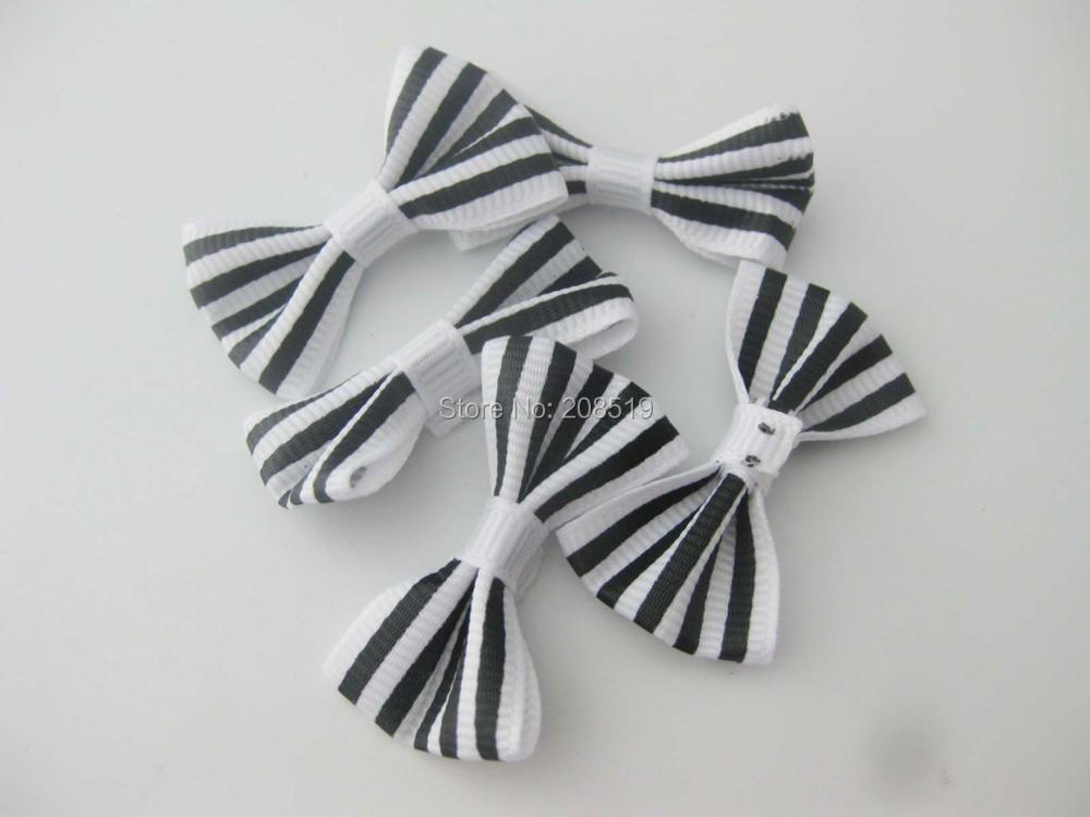 FZNNWL hairclip bows printed Lines on Grosgrain ribbon 60pcs lot children skirt decorative bowtie DIY sewing in DIY Craft Supplies from Home Garden