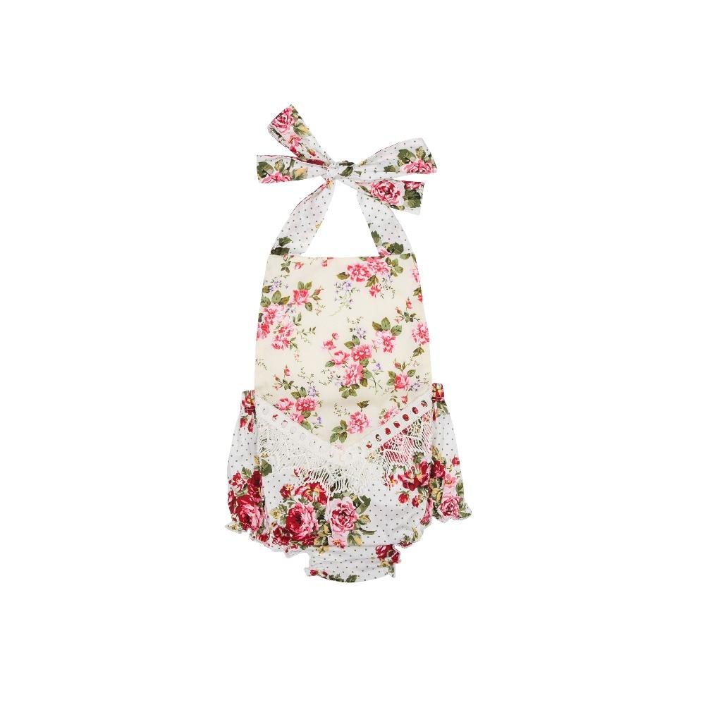 Mameluco del bebé Dulce bebé Niños mamelucos florales borde de - Ropa de bebé