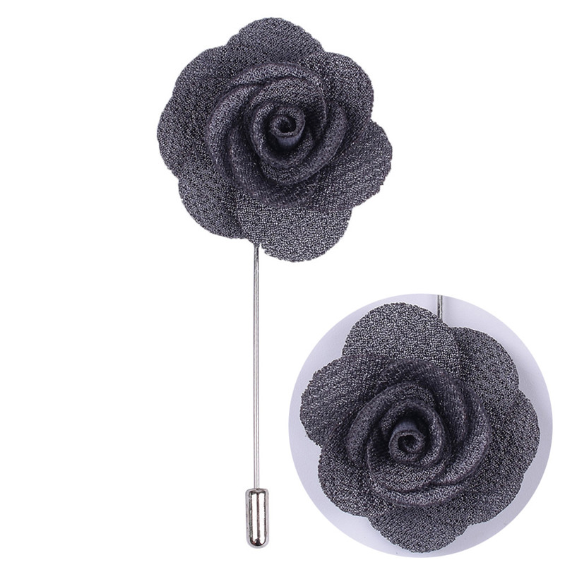 Hot Style Best Man Groom Boutonniere Silk Satin Colorful Rose Flower Men Wedding Party Prom Man Suit Corsage Pin Brooch XH011-J