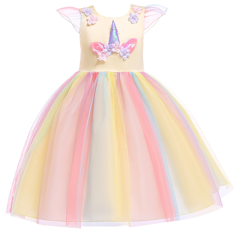 Bebé niña unicornio tutú vestido Pastel Arco Iris princesa niñas cumpleaños fiesta vestido niños Halloween unicornio Cosplay disfraz