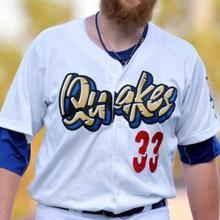 SexeMara custom Minor League Quakes Baseball jersey.. any name number 655e7ea5f