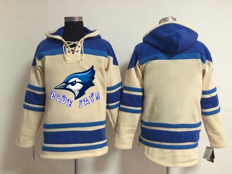 Sweat Couture Lecteur Pull rouge Bleu Jays Beige Numéro Et Baseball Logo Modèles rouge bleu Style Bleu Nouveaux Personnaliser Équipe Nom blanc Hoodies wxpvqYXTW