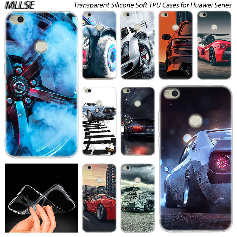 Sports Car Speed Yokohama drift Silicone Case for Huawei NOVA 3 3i 4 Honor 7A Pro  7S 6X 7X 8X 8 9 10 Lite Play View 20 Cover