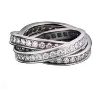 925 Sterling Silver Ring For Women Hot Sale MEDBOO New Style White Gold Color Silver Ring
