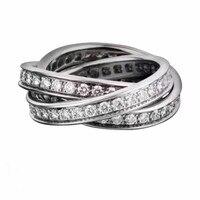 925 anillo de plata esterlina para las mujeres venta caliente MEDBOO nuevo estilo del color del oro blanco anillo de plata excelente calidad fasion mano joyería