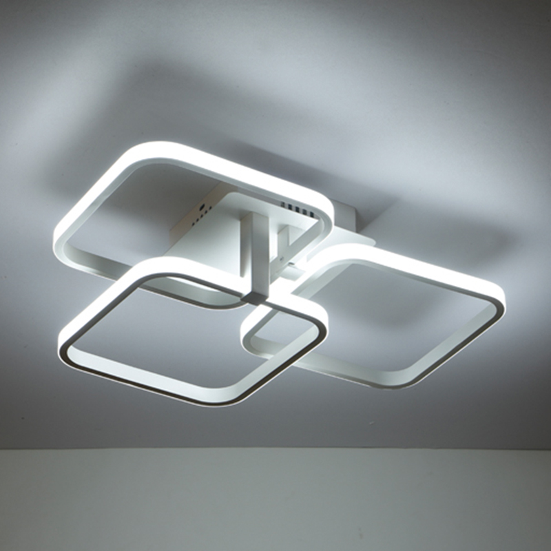 Modern industrial Aluminum painted Nordic Ceiling Lights Plafonnier LED 220V ceiling Lamp For Living Room bedroom study office