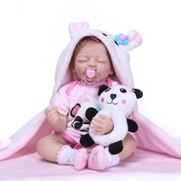 NPK reborn doll 50cm soft silicone reborn baby dolls com corpo de silicone menina baby dolls Christmas surprice gifts doll lol