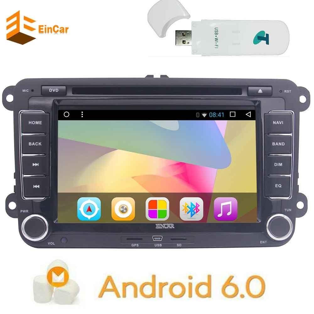 3G gratuit Dongle + Caubus android 6.0 2Din voiture audio radio lecteur DVD GPS stéréo Navi Sat véhicule de Navigation pour VW Volkswagen Jetta