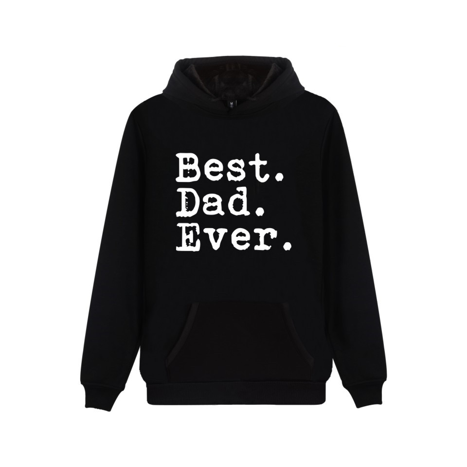 Funny Father's Day Best Dad Ever Hooded Sweatshirt Popular Cartoon Casual Warm Winter Hoodies Funny Gift For Dad Clothes