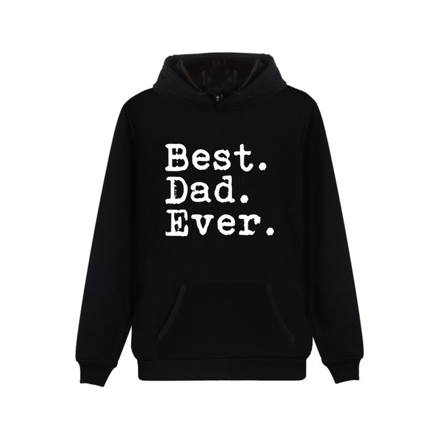 beeecfca Funny Father's Day Best Dad Ever Hooded Sweatshirt Popular Cartoon Casual  Warm Winter Hoodies Funny Gift For Dad Clothes