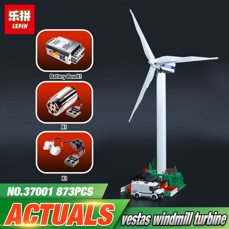 Lepin 37001 Creative Series 873Pcs Marvel Windmill Turbine LegoINGly Model Sets Building Nano Block Bricks Toys For Boy lepin 20030 1132pcs technik ultimate off roader cars legoingly 8297 sets building nano block bricks toys for boy gifts