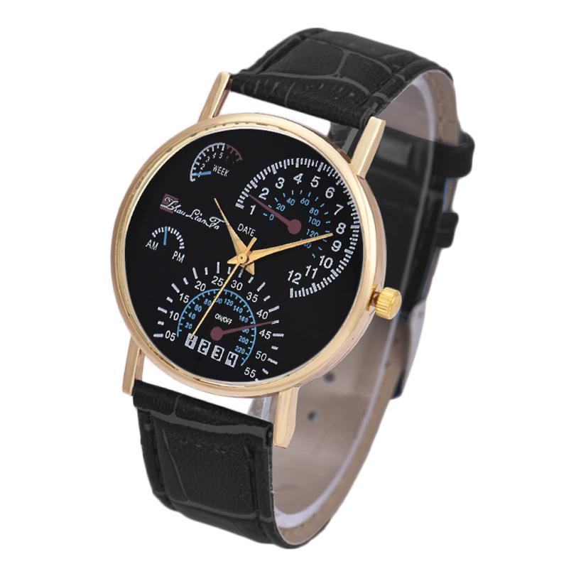 Essential Wristwatch Bangle Bracelet Watches Men's Leather Band Analog Quartz Business Gift Sep29 essential mathematics for economics and business