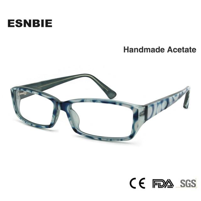 ESNBIE New Eyeglasses Frames Women Acetate Frame Blue Green Square ...