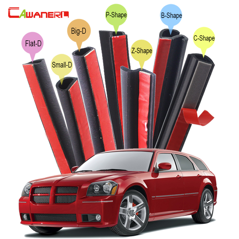 Cawanerl Car Hood Trunk Door Seal Sealing Strip Kit Fillers Weatherstrip Noise Control For Dodge Challenger Charger Dart Magnum
