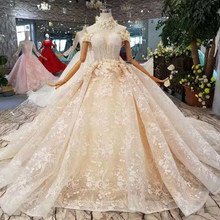 LS11007 flowers collar wedding dresses off the shoulder sweetheart  appliques bride dress hot selling wedding gown princess fairy a3b4a27ded6d